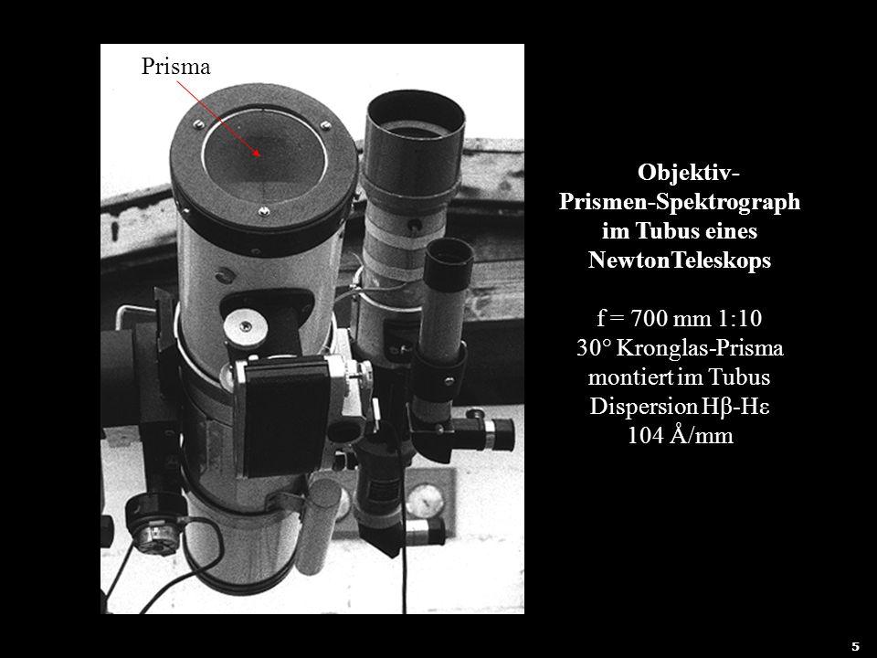 Objektiv- Prismen-Spektrograph