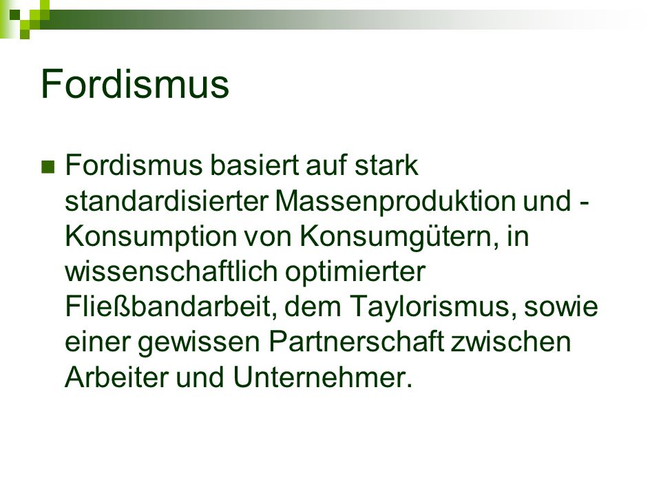 Fordismus