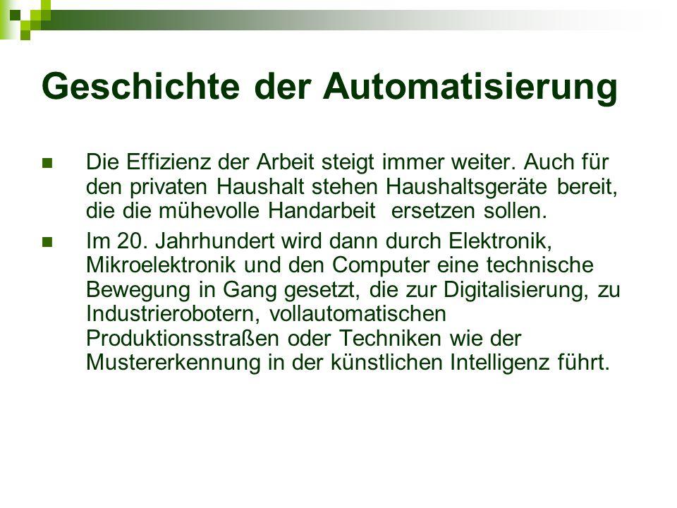 Geschichte der Automatisierung