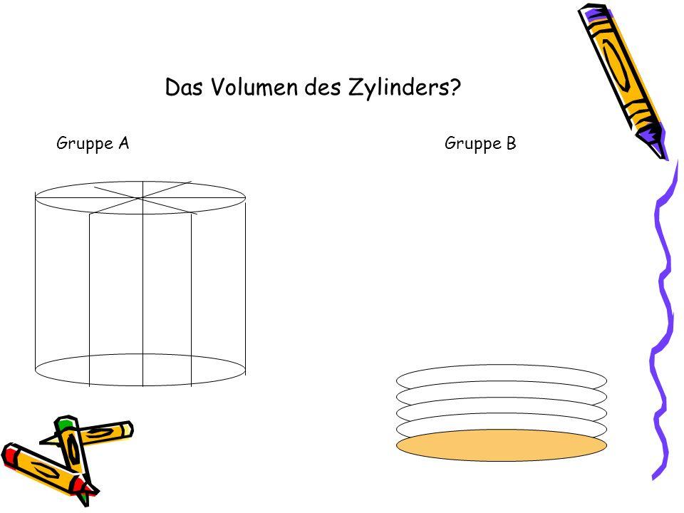 Das Volumen des Zylinders