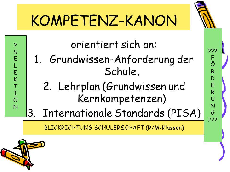 KOMPETENZ-KANON orientiert sich an: