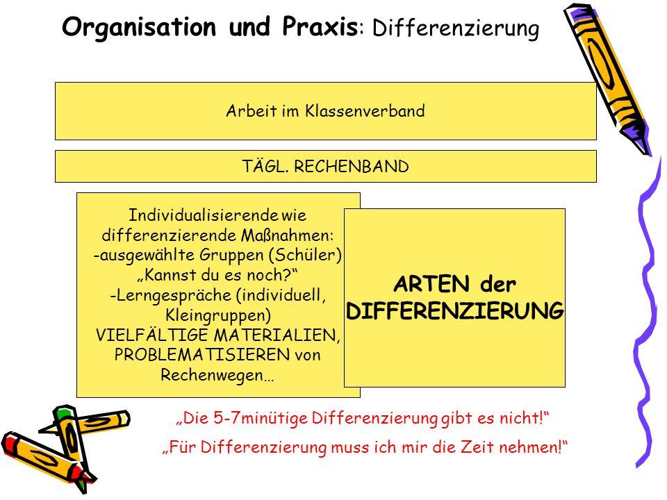 Organisation und Praxis: Differenzierung