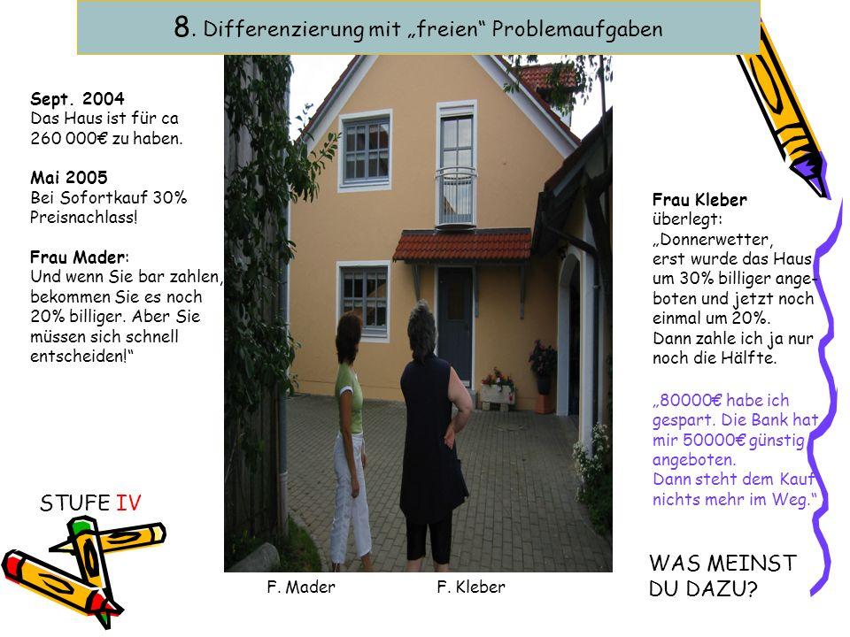 """8. Differenzierung mit """"freien Problemaufgaben"""