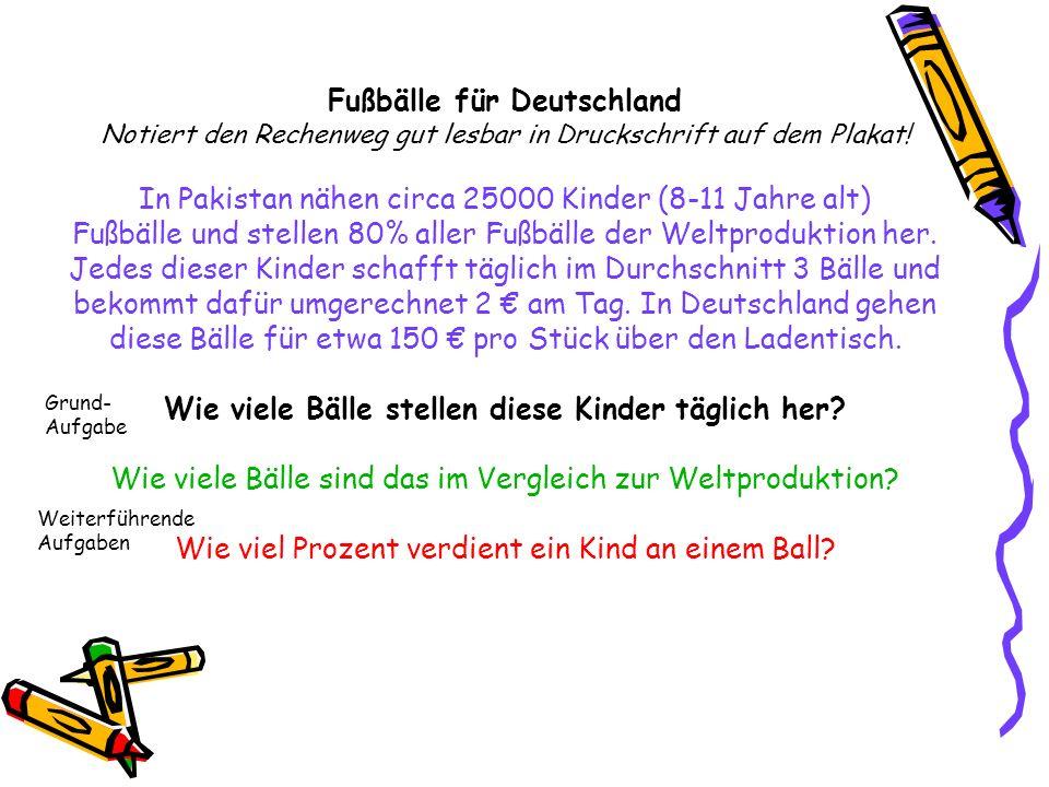 Fußbälle für Deutschland