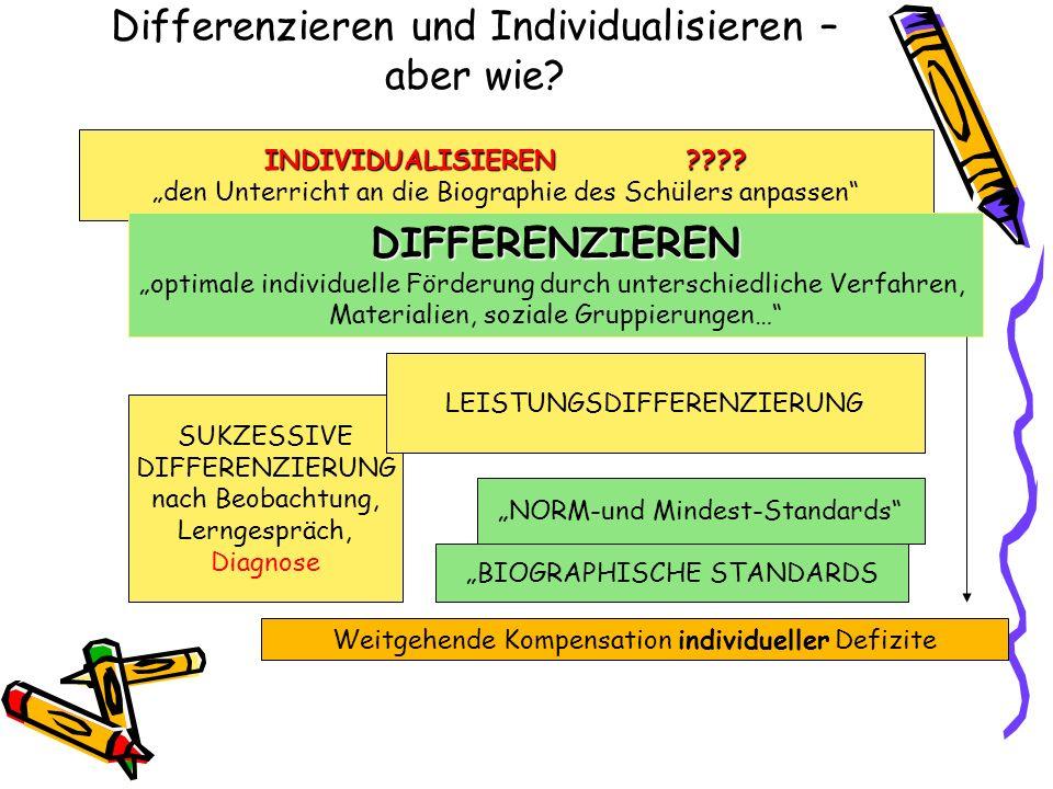 Differenzieren und Individualisieren – aber wie