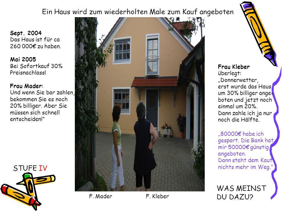 Ein Haus wird zum wiederholten Male zum Kauf angeboten