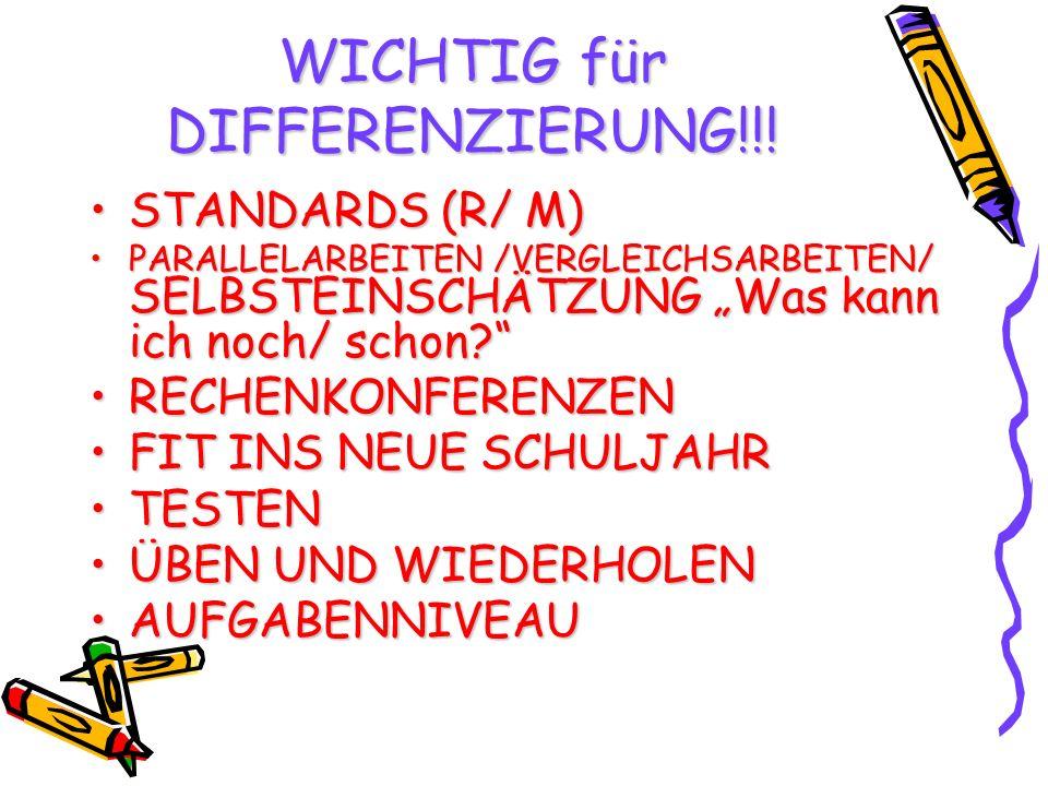 WICHTIG für DIFFERENZIERUNG!!!