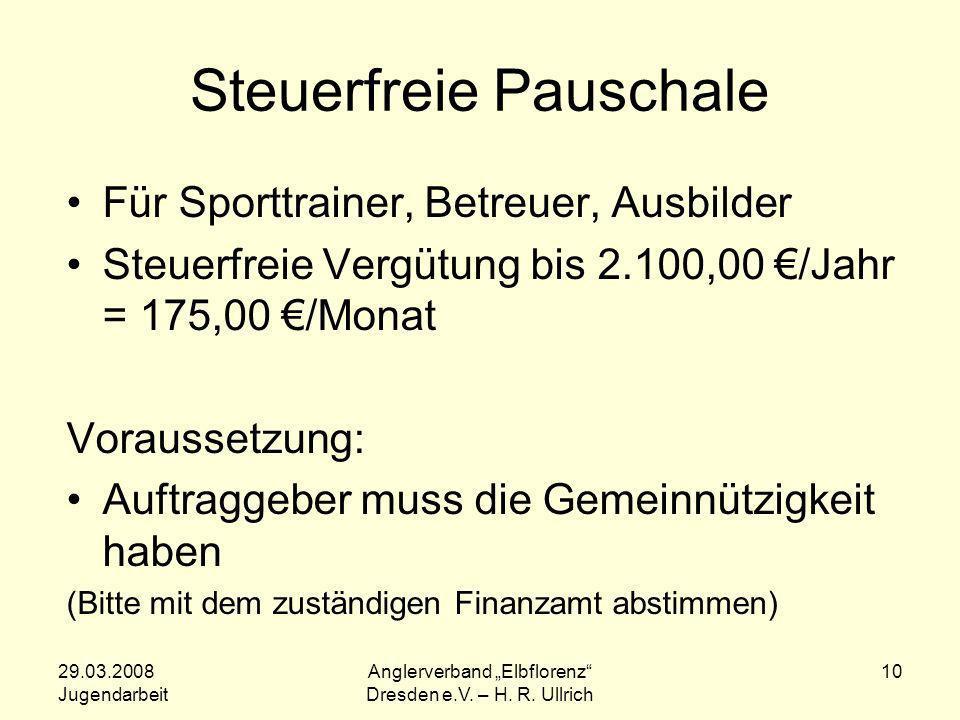 Steuerfreie Pauschale