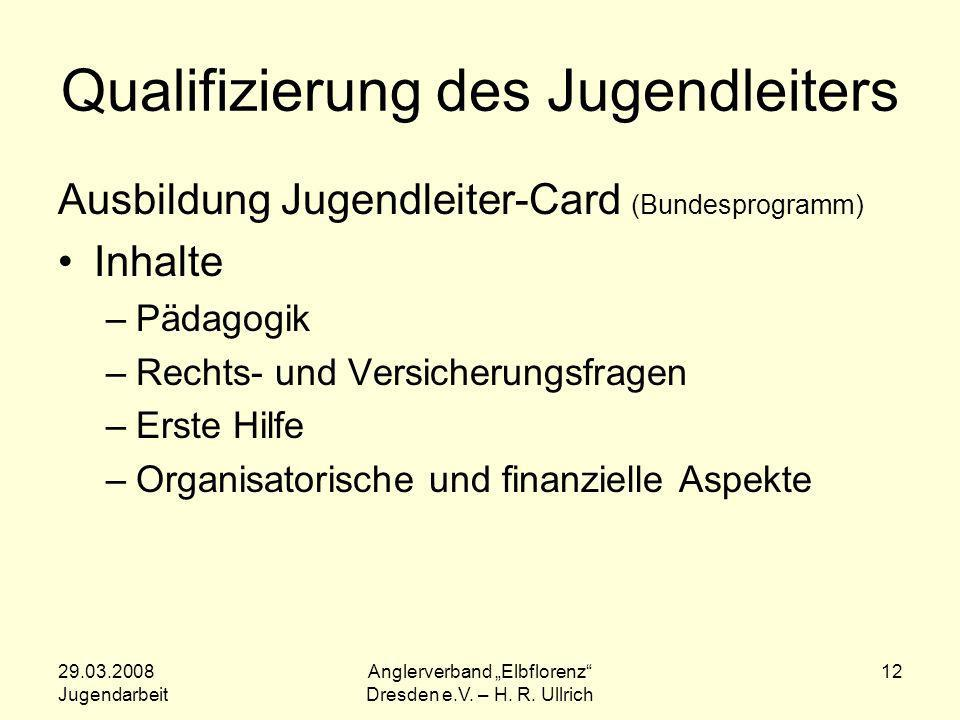 Qualifizierung des Jugendleiters