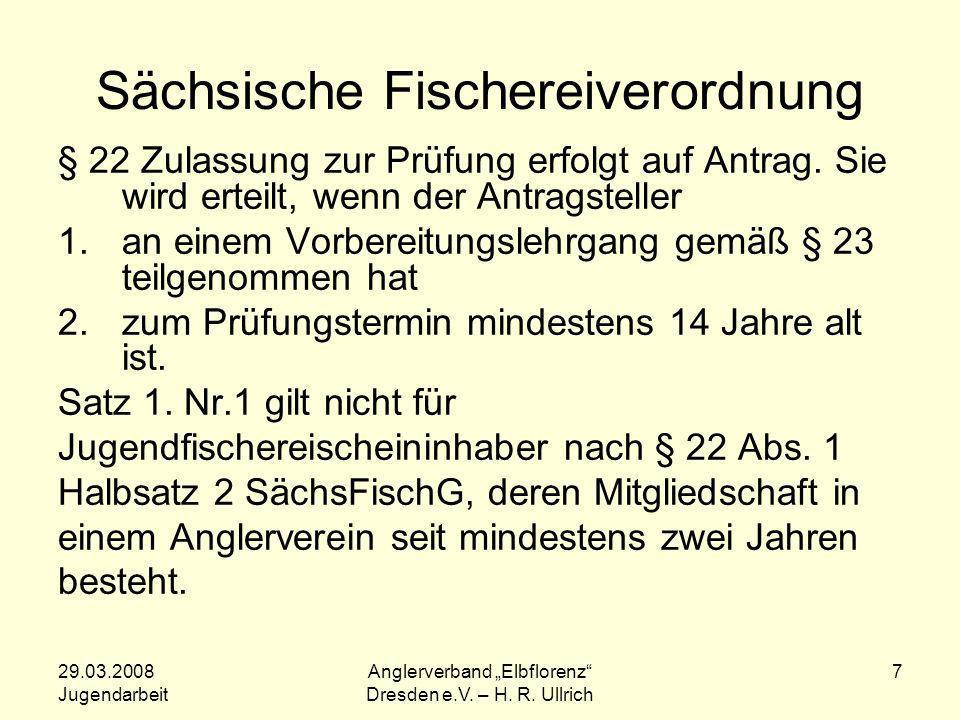 Sächsische Fischereiverordnung