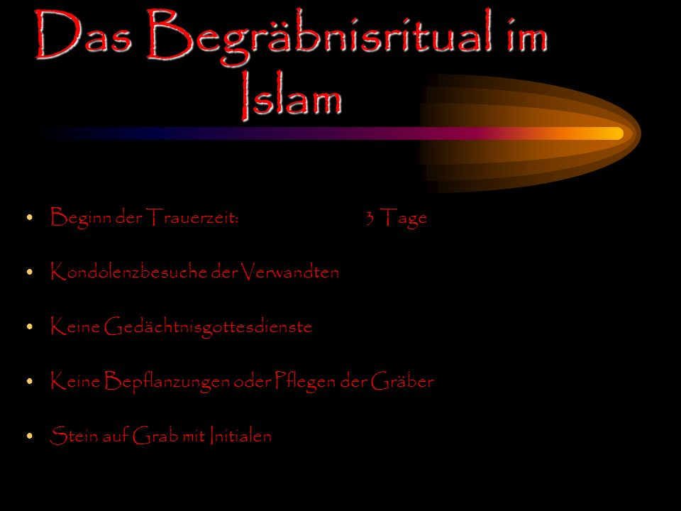 Das Begräbnisritual im Islam