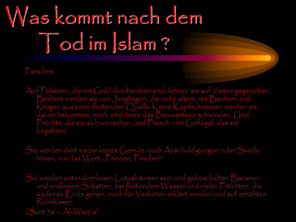 Was kommt nach dem Tod im Islam