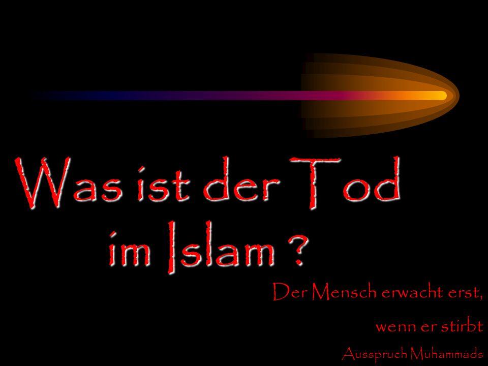 Was ist der Tod im Islam Der Mensch erwacht erst, wenn er stirbt