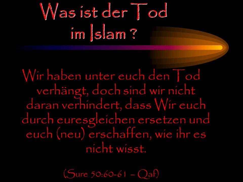 Was ist der Tod im Islam