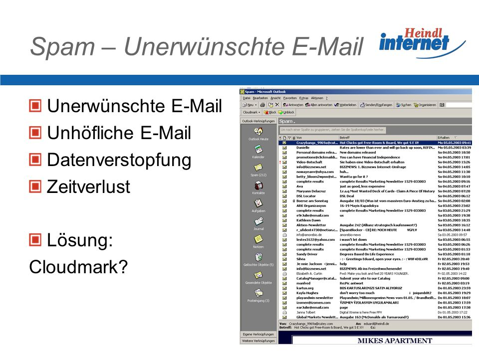 Spam – Unerwünschte E-Mail