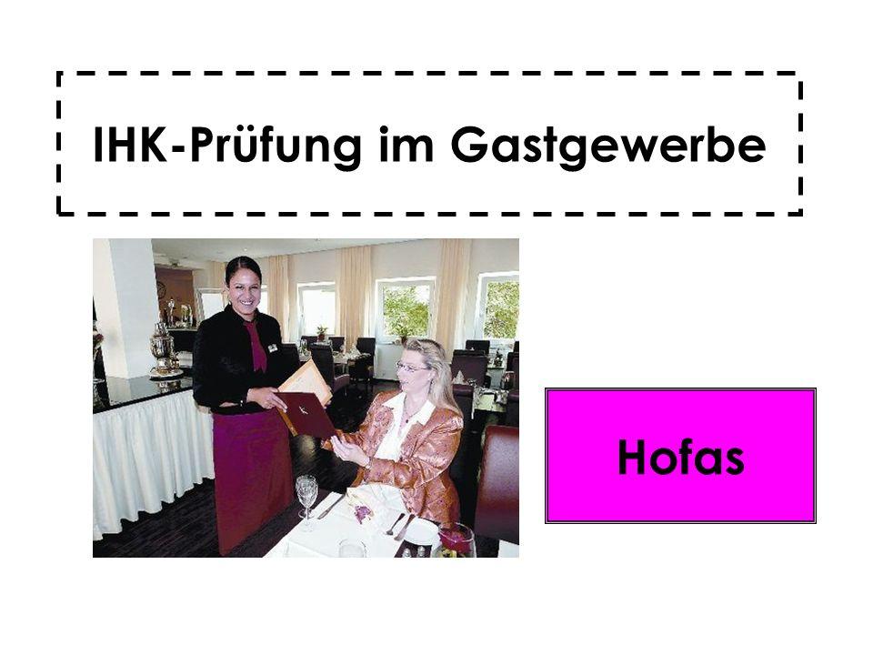 IHK-Prüfung im Gastgewerbe