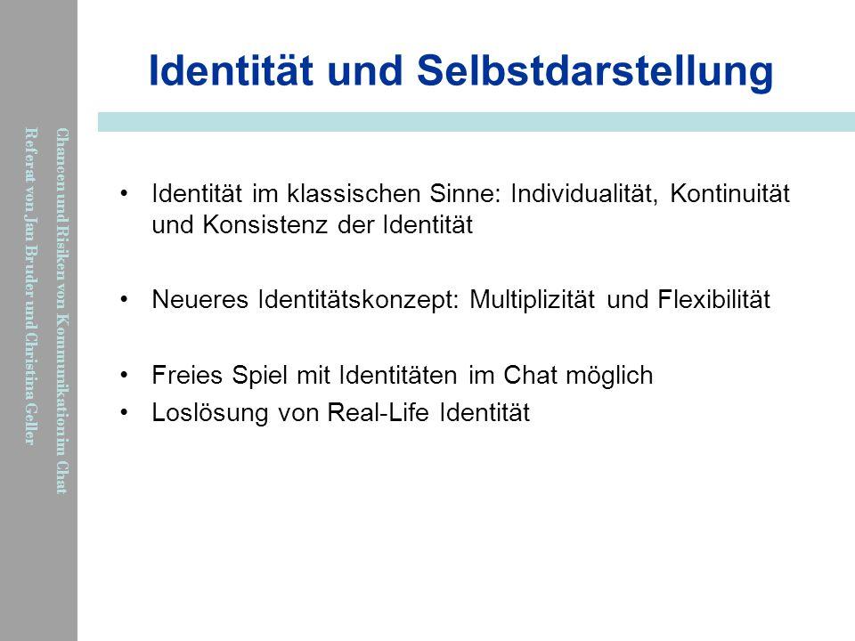 Identität und Selbstdarstellung