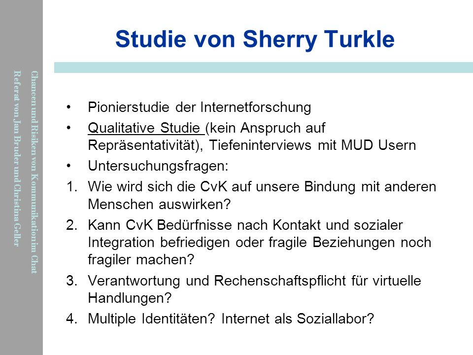 Studie von Sherry Turkle