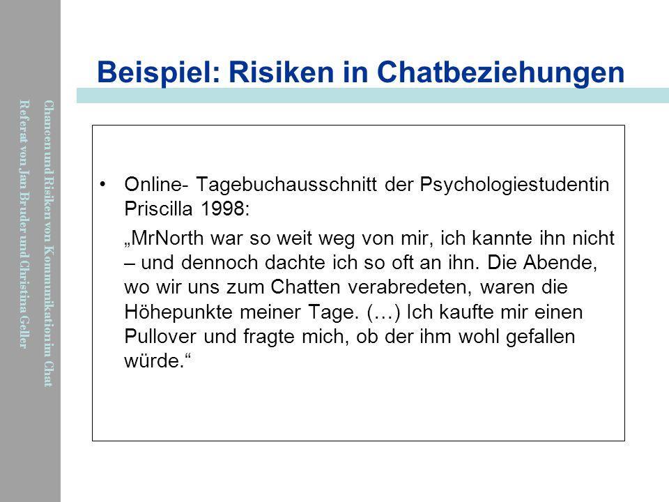 Beispiel: Risiken in Chatbeziehungen