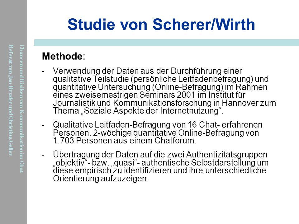 Studie von Scherer/Wirth