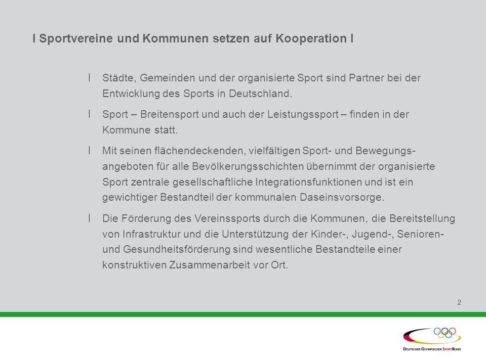 I Sportvereine und Kommunen setzen auf Kooperation I