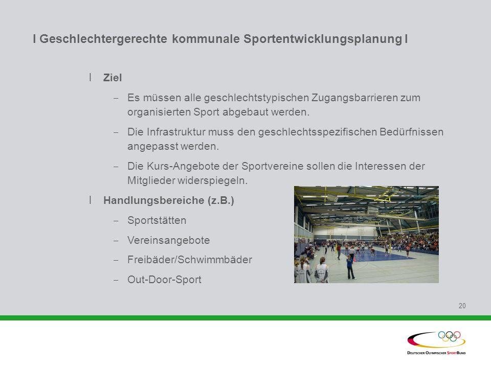 I Geschlechtergerechte kommunale Sportentwicklungsplanung l