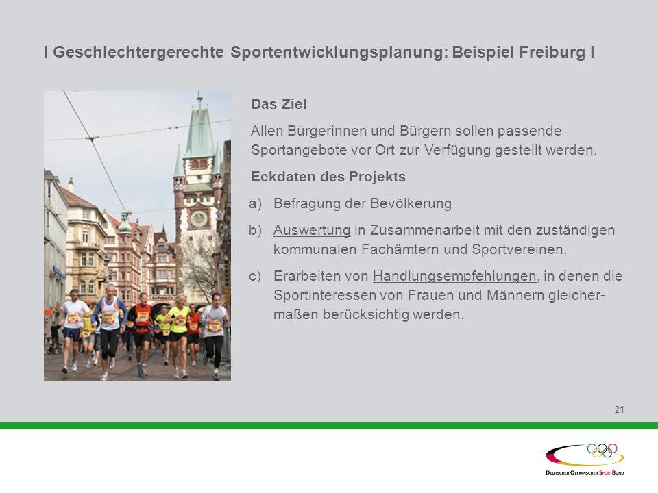 I Geschlechtergerechte Sportentwicklungsplanung: Beispiel Freiburg l