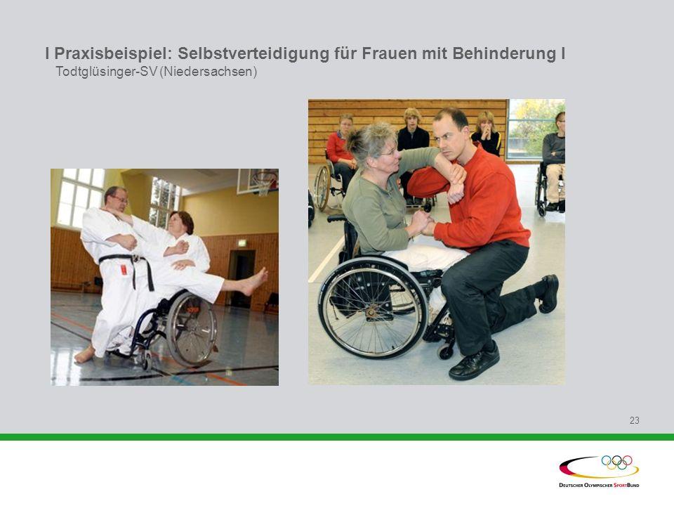 I Praxisbeispiel: Selbstverteidigung für Frauen mit Behinderung l Todtglüsinger-SV (Niedersachsen)