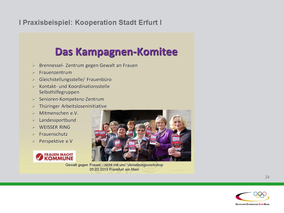 I Praxisbeispiel: Kooperation Stadt Erfurt l