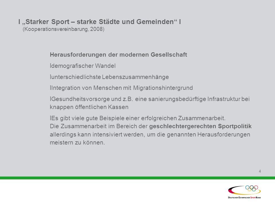 """I """"Starker Sport – starke Städte und Gemeinden I (Kooperationsvereinbarung, 2008)"""