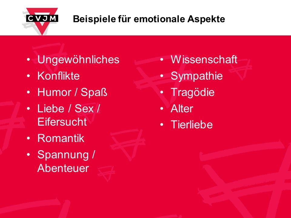 Beispiele für emotionale Aspekte