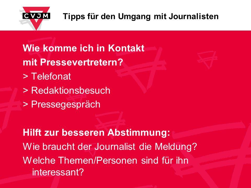 Tipps für den Umgang mit Journalisten