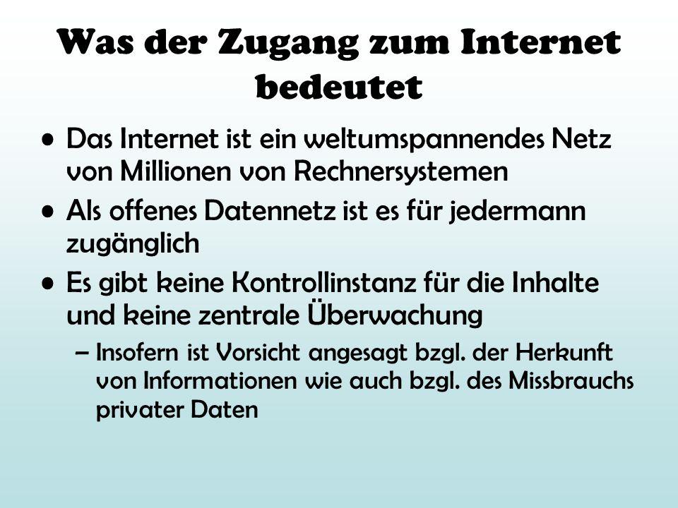 Was der Zugang zum Internet bedeutet