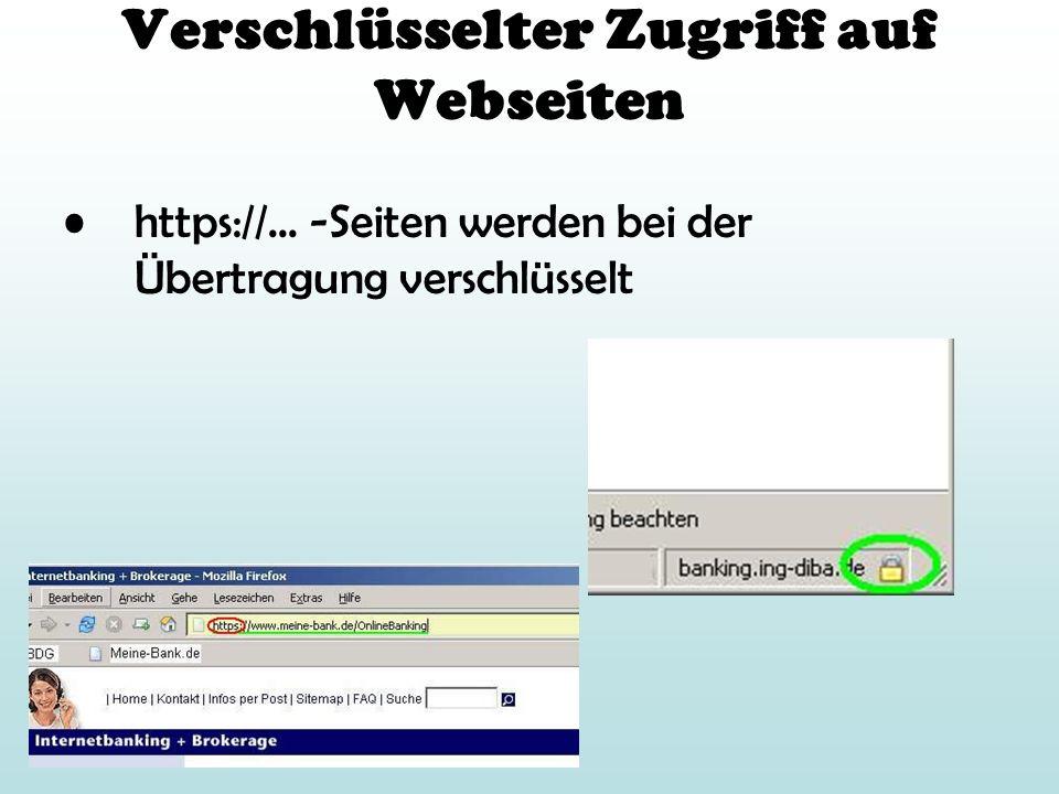 Verschlüsselter Zugriff auf Webseiten