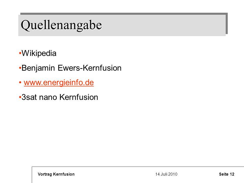 Quellenangabe Wikipedia Benjamin Ewers-Kernfusion www.energieinfo.de