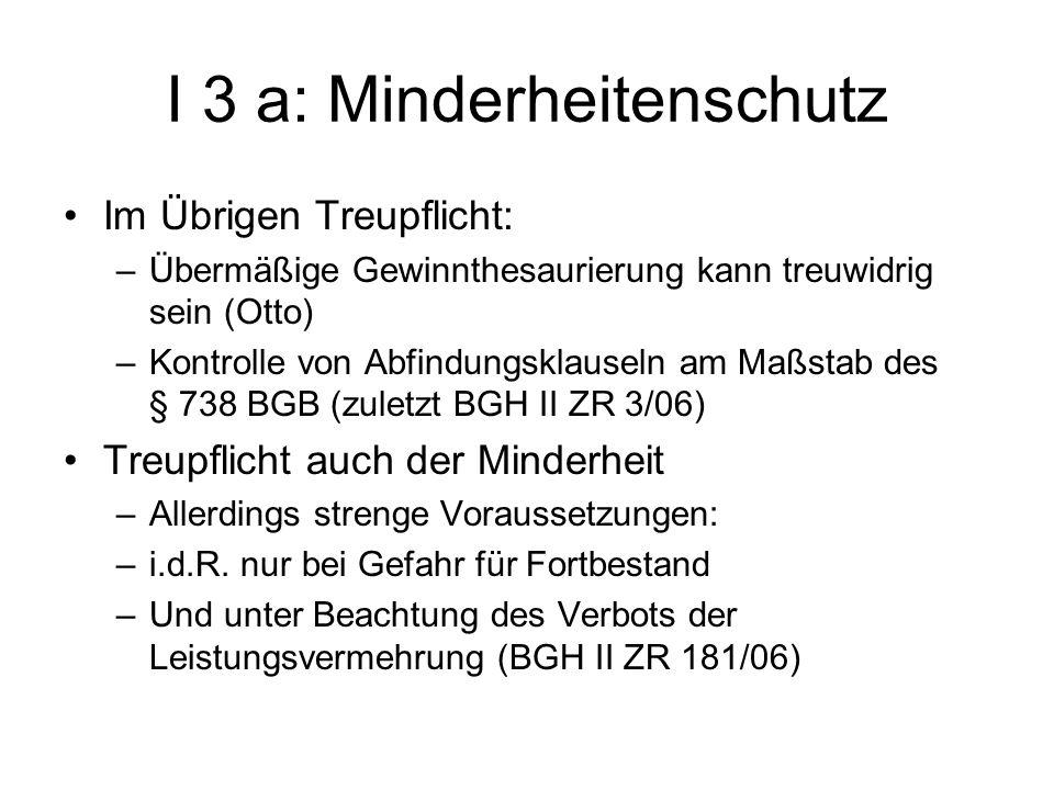 I 3 a: Minderheitenschutz