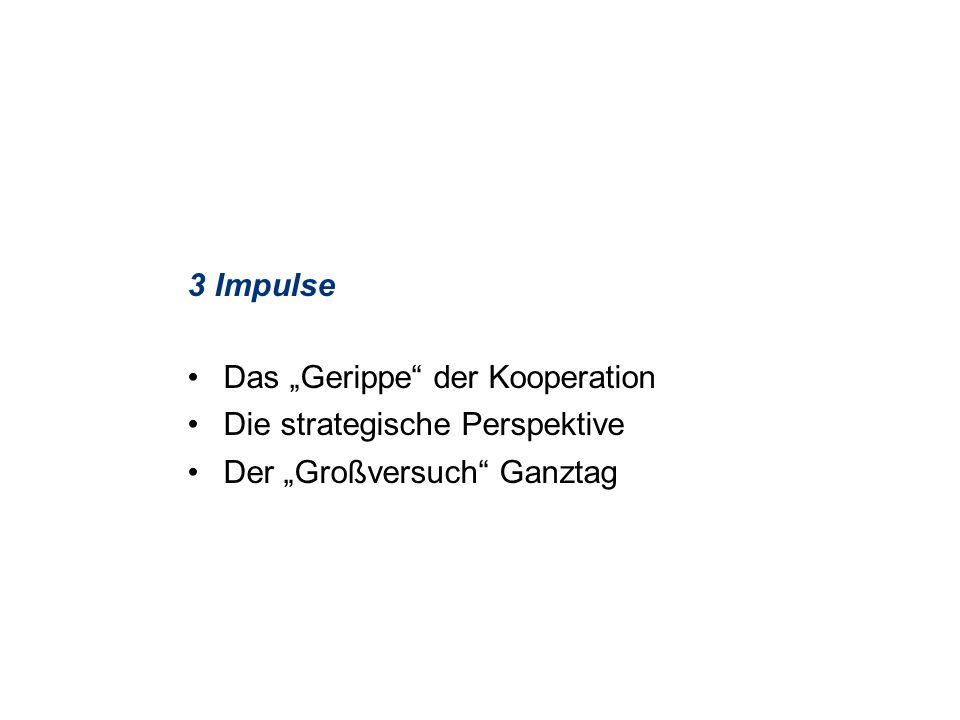 """3 Impulse Das """"Gerippe der Kooperation Die strategische Perspektive Der """"Großversuch Ganztag"""