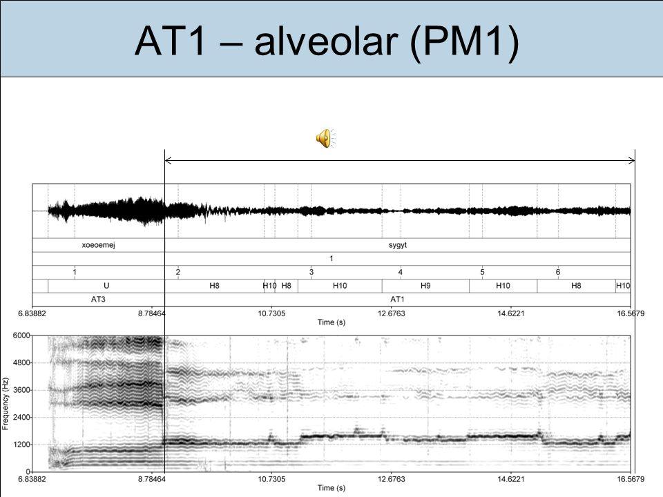 AT1 – alveolar (PM1)Im folgenden stelle ich Ihnen die drei häufigsten Kombinationen vor (gesungen von einem Sänger):