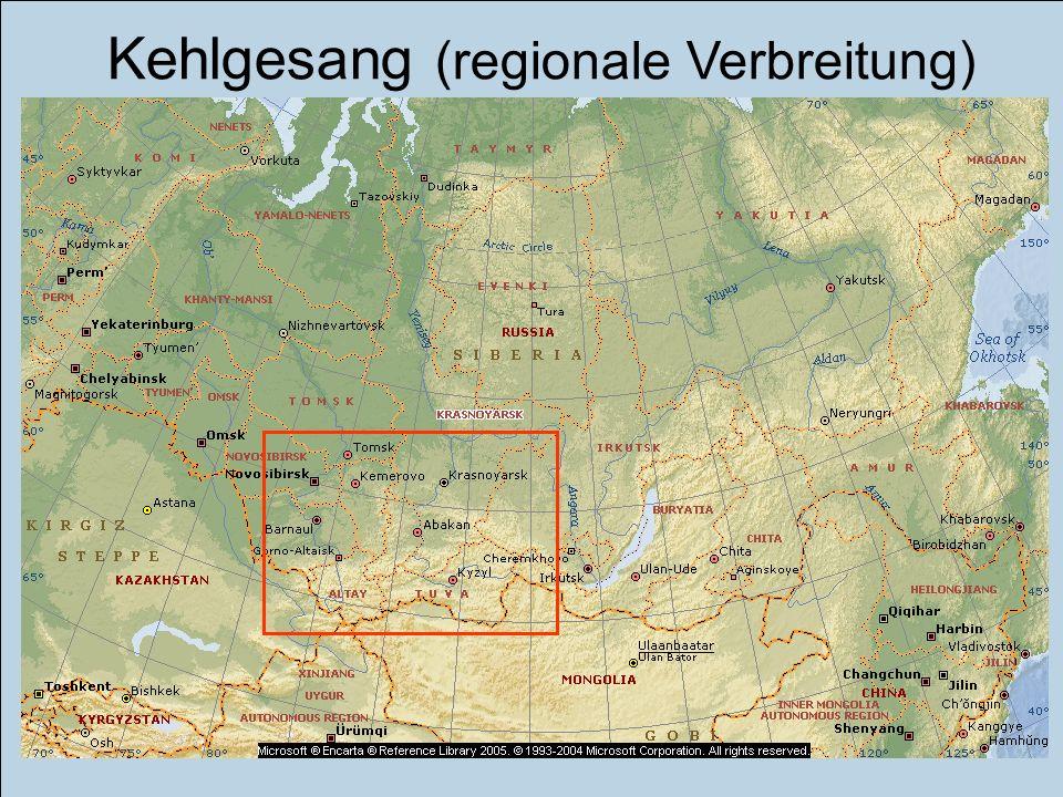Kehlgesang (regionale Verbreitung)