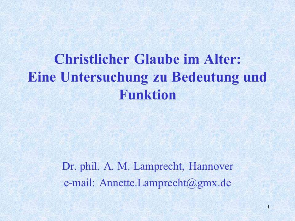 Dr. phil. A. M. Lamprecht, Hannover e-mail: Annette.Lamprecht@gmx.de