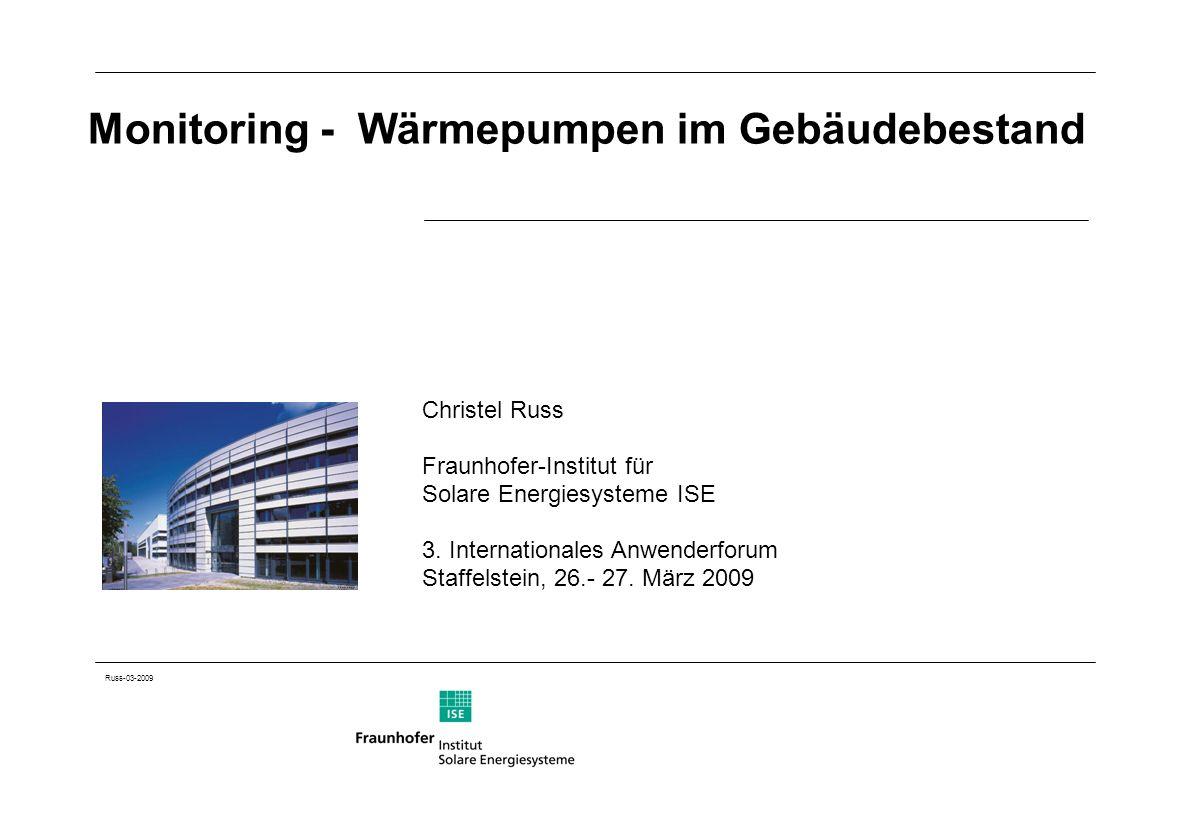 Monitoring - Wärmepumpen im Gebäudebestand