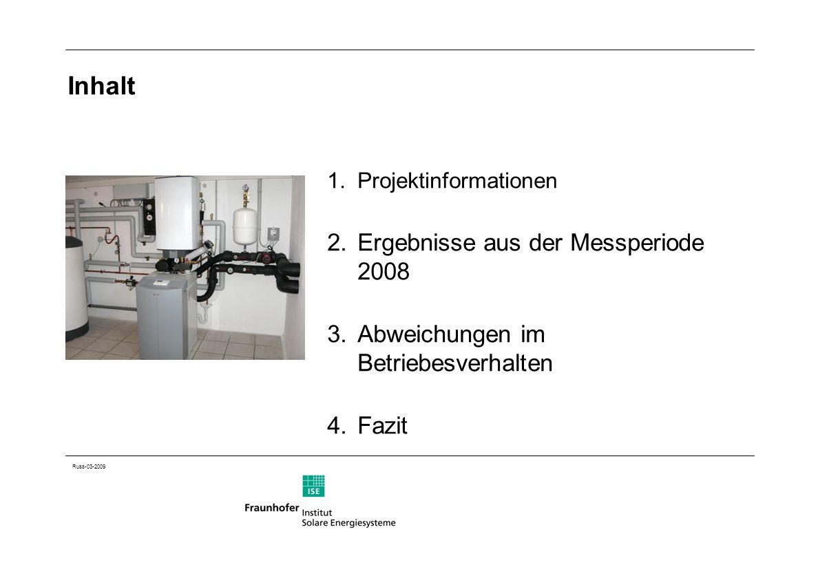 Inhalt Ergebnisse aus der Messperiode 2008