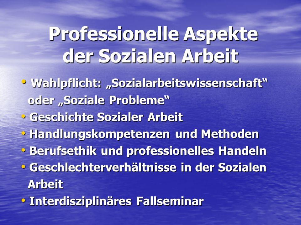 Professionelle Aspekte der Sozialen Arbeit