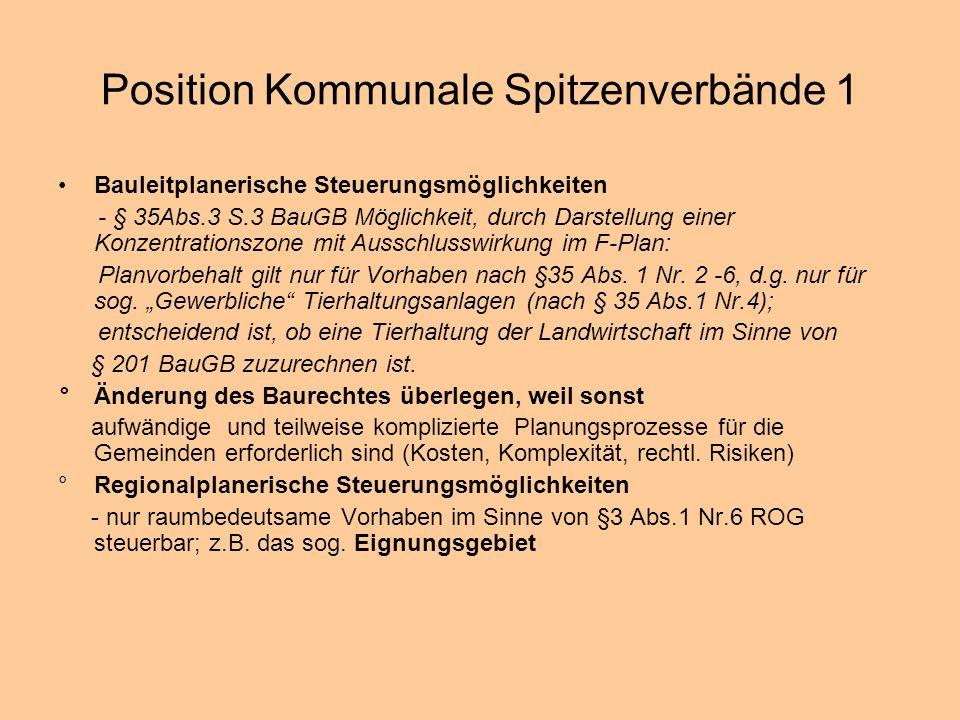 Position Kommunale Spitzenverbände 1