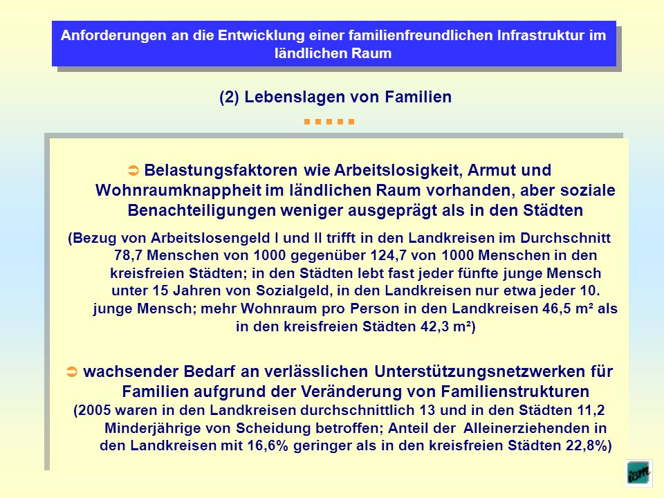 (2) Lebenslagen von Familien