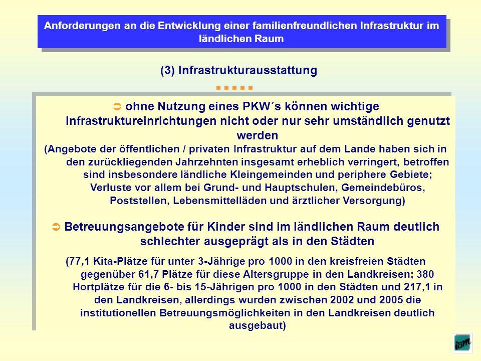 (3) Infrastrukturausstattung
