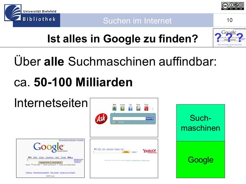 Ist alles in Google zu finden