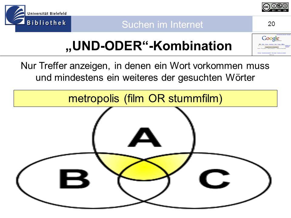 """""""UND-ODER -Kombination"""