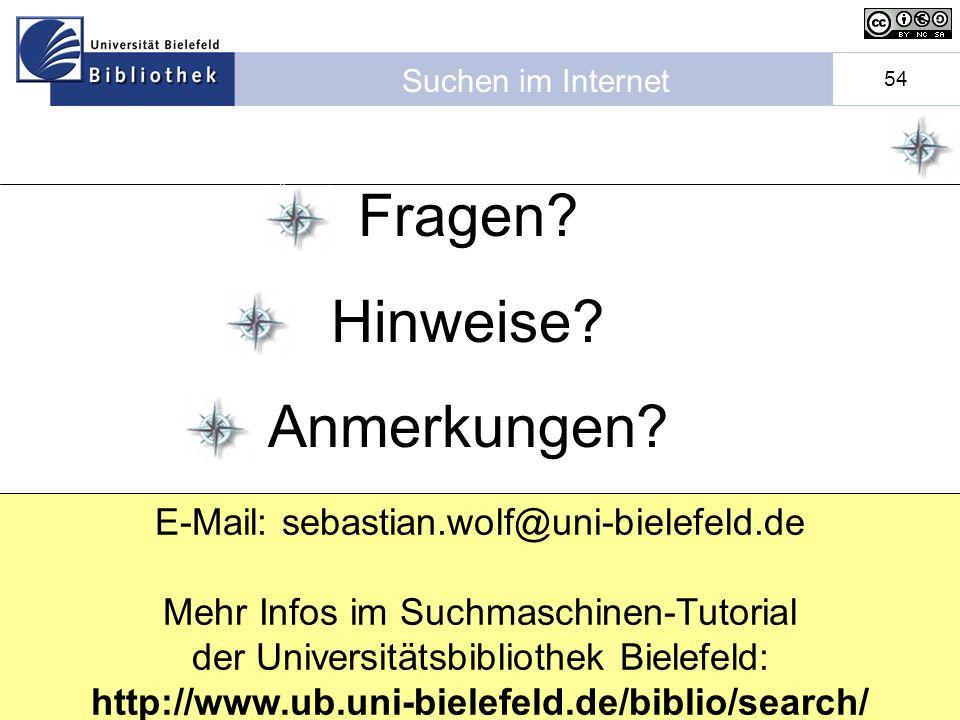 E-Mail: sebastian.wolf@uni-bielefeld.de