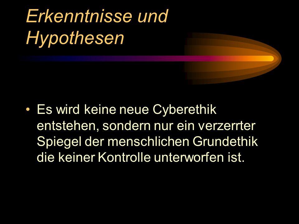 Erkenntnisse und Hypothesen